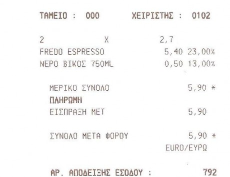 Θεσσαλονίκη: Πόσα πλήρωσε ταξιδιώτης για δύο fredo; – Καταγγελία με απόδειξη!