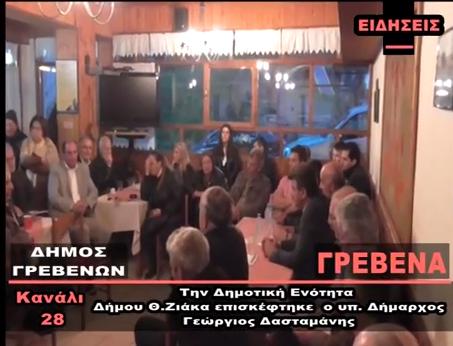 video – Την Δημοτική Ενότητα Θ.Ζιάκα επισκέφθηκε ο υπ.Δήμαρχος Γρεβενών Γιώργος Δασταμάνης