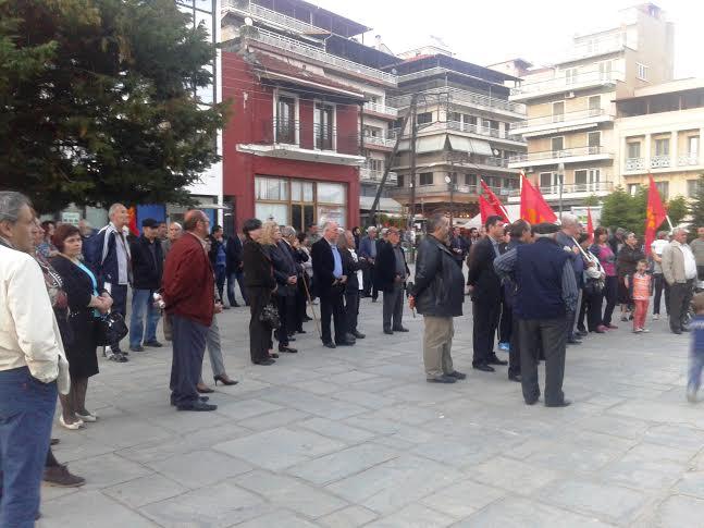 Μαζική ήταν η προεκλογική συγκέντρωση του ΚΚΕ που έγινε στην κεντρική πλατεία των Γρεβενών