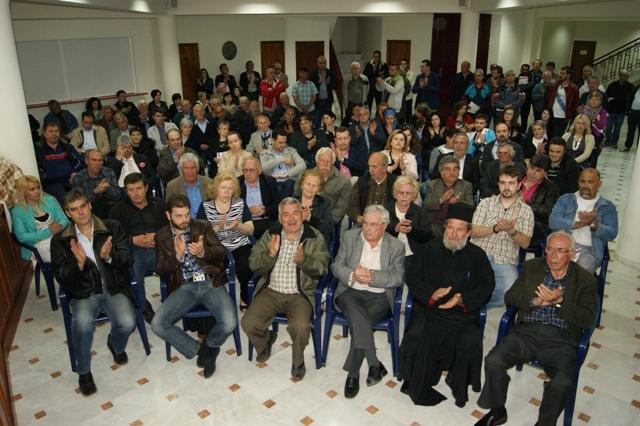 Σε μια κατάμεστη αίθουσα στο Δημαρχείο της Κνίδης και σε ένα ιδιαίτερο θερμό κλίμα ο κ. Γ.Δασταμάνης παρουσίασε  τις αρχές του προγράμματος του στους κατοίκους των Βεντζίων