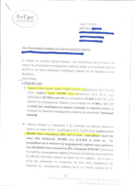 Αυτές είναι οι μελέτες των 5 εκ. ευρώ , της ΑΝ.ΓΡΕ. Εισπράχθηκαν από μελέτη 510.000,00 ευρώ για έργο που δεν έγινε ποτέ!!!