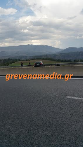 Τροχαίο ατύχημα στην Εγνατία Οδό, στον κόμβο του Ταξιάρχη (φωτογραφίες)