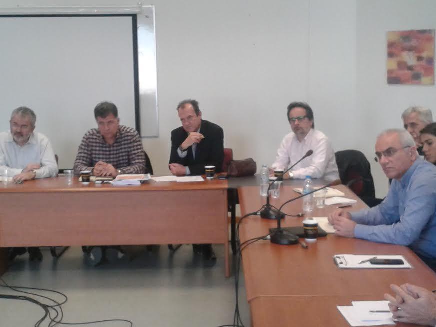 Συνάντηση του Αντιπεριφερειάρχη Γρεβενών και του Αντιπεριφερειάρχη Αγροτικής Ανάπτυξης με τον Πρύτανη και τους Καθηγητές  του Πανεπιστημίου Θεσσαλίας