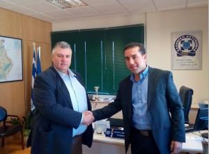 Επίσκεψη του Βουλευτή ΑΝΕΛ Χ.Κάτανα στον Γενικό Περιφερειακό Αστυνομικό Διευθυντή Δυτικής Μακεδονίας, Υποστράτηγο Καραΐτση Γεώργιο