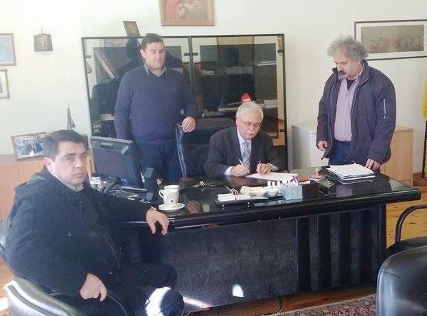 Υπογραφή σύμβασης έργου «Ύδρευση Δαμασκηνιάς  Δήμου Βοΐου»