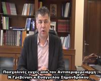 Πασχαλινές ευχές από τον αντιπεριφερειάρχη Γρεβενών Βαγγέλη Σημανδράκο (video)