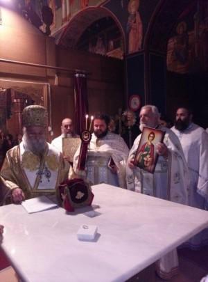 Το Σάββατο  ο Σεβασμιώτατος Μητροπολίτης Γρεβενών κ. Δαβίδ ετέλεσε τα εγκαίνια του Ι. Ναού Αγίου Παντελεήμονος, στον Ασπρόκαμπο Γρεβενών (φωτογραφίες)