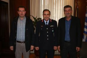 Εθιμοτυπική επίσκεψη του Γενικού Περιφερειακού Αστυνομικού Διευθυντή Δυτ. Μακεδονίας κ. Ντζιοβάρα στο Δήμαρχο Γρεβενών κ. Δασταμάνη