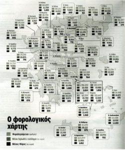 Τι εισόδημα δηλώνουν και τι φόρο πληρώνουν οι Έλληνες ανά νομό
