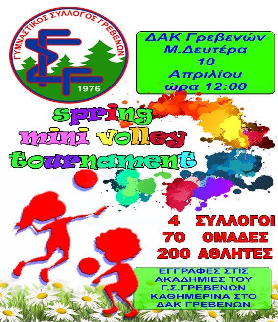 Γυμναστικός Σύλλογος Γρεβενών: spring minivolley tournament