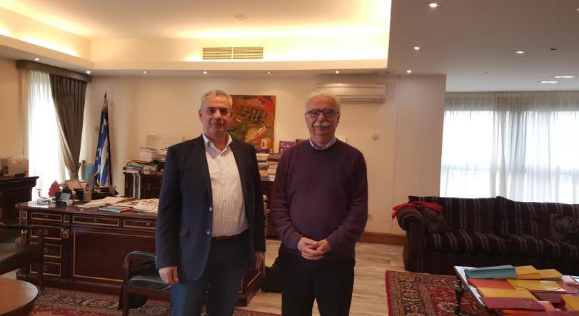 Τον Υπουργό Παιδείας κ. Γαβρόγλου Κωνσταντίνο επισκέφτηκε ο Βουλευτής Γρεβενών κ. Χρήστος Μπγιάλας