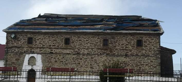 Δεσκάτη: Μεγάλες καταστροφές από ανεμοθύελλα -«Ξηλώθηκε» σκεπή εκκλησίας, διακόπηκε το ρεύμα