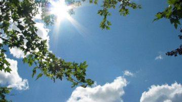Μικρό «καλοκαίρι» σήμερα- Εως 26 βαθμούς η θερμοκρασία