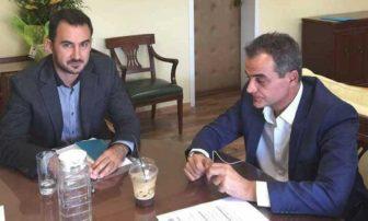Επικοινωνία Θ.Καρυπίδη με τον Υπουργό Εσωτερικών κ.Χαρίτση για τα καυσόξυλα
