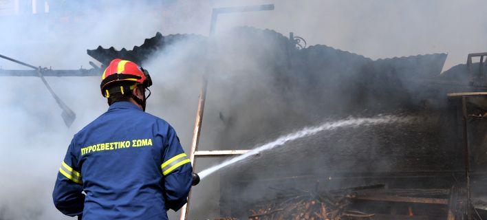 Κεραυνός έκαψε δεκάδες πρόβατα στα Τρίκαλα τα ξημερώματα