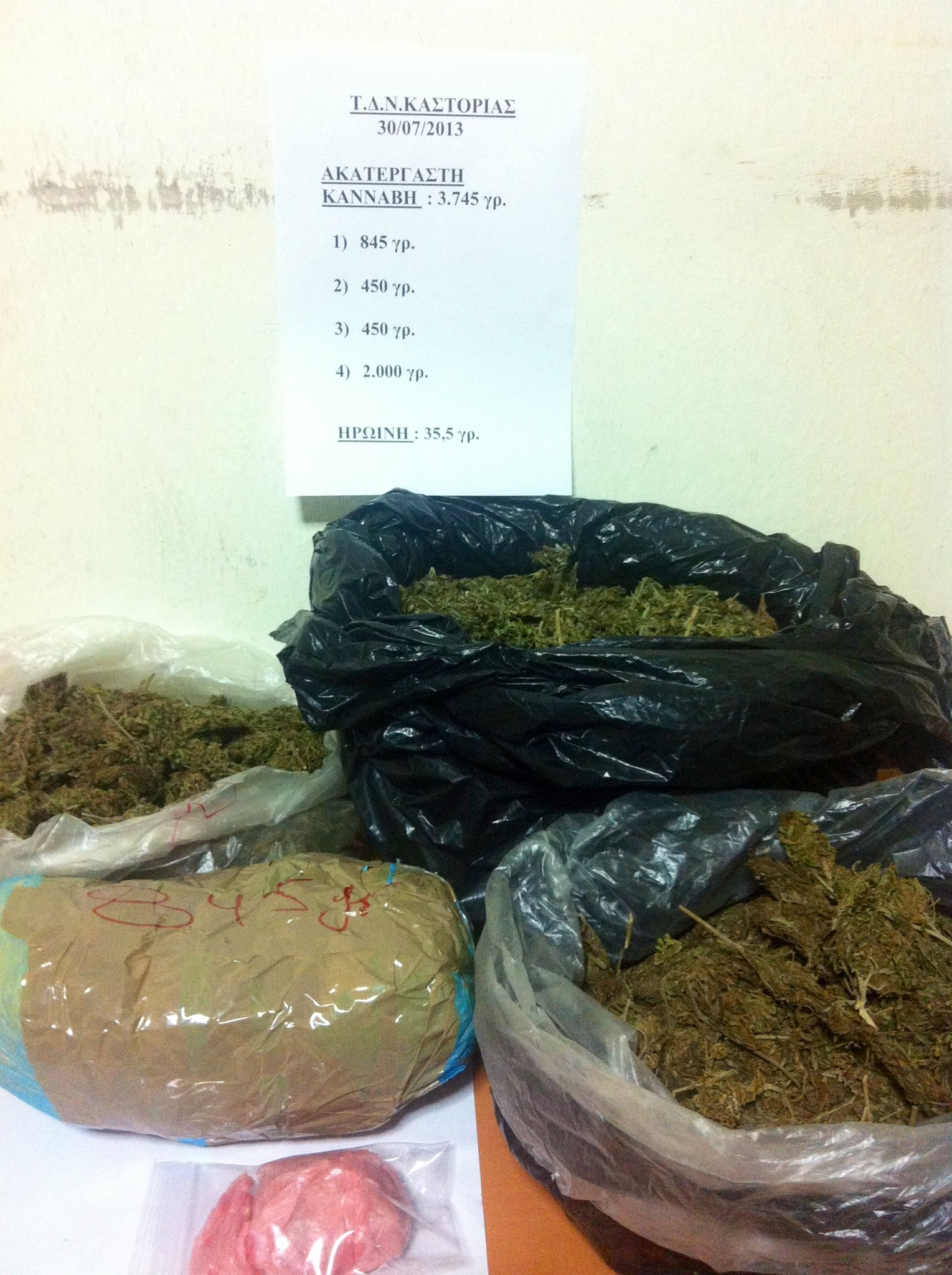 Σύλληψη αλλοδαπού στους Κομνηνάδες Καστοριάς για εισαγωγή ναρκωτικών ουσιών