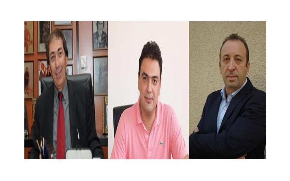 Οι περιφερειακοί σύμβουλοι Γιάννης Παπαδόπουλος,Σωκράτης Κουρέλλας και ο Γιάννης Παπαϊορδανίδης