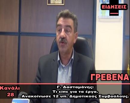 video: Τα 12 πρώτα ονόματα του συνδυασμού ΄΄Γρεβενά – Συμμετέχω Ενεργά΄΄ ανακοίνωσε ο Υπ. Δήμαρχος Γρεβενών Γιώργος Δασταμάνης