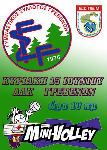 Γυμναστικός Σύλλογος Γρεβενών: mini-volley την Κυριακή 15 Ιουνίου