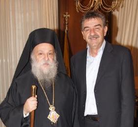 Τον Σεβασμιότατο Μητροπολίτη Γρεβενών κ.κ. Δαυίδ δέχθηκε σήμερα το πρωί στο γραφείο του ο Δήμαρχος Γρεβενών κ. Γιώργος Δασταμάνης