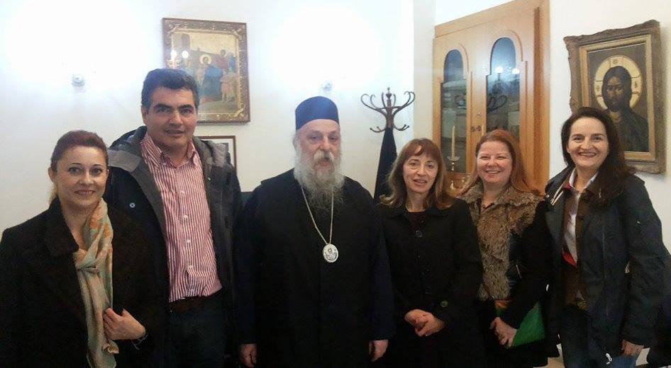 Ο Πολιτιστικός Σύλλογος Γρεβενών ΄΄Πίνδος΄΄ επισκέφθηκε τον νέο Μητροπολίτη Γρεβενών κ. Δαυίδ