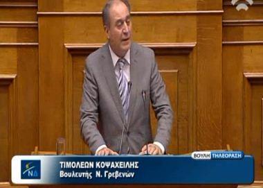 Δήλωση του Βουλευτή Γρεβενών Τ. Κοψαχείλη