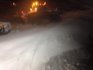 Φοβερή νυχτερινή χιονοθύελλα στη Βασιλίτσα-Φωτογραφίες!