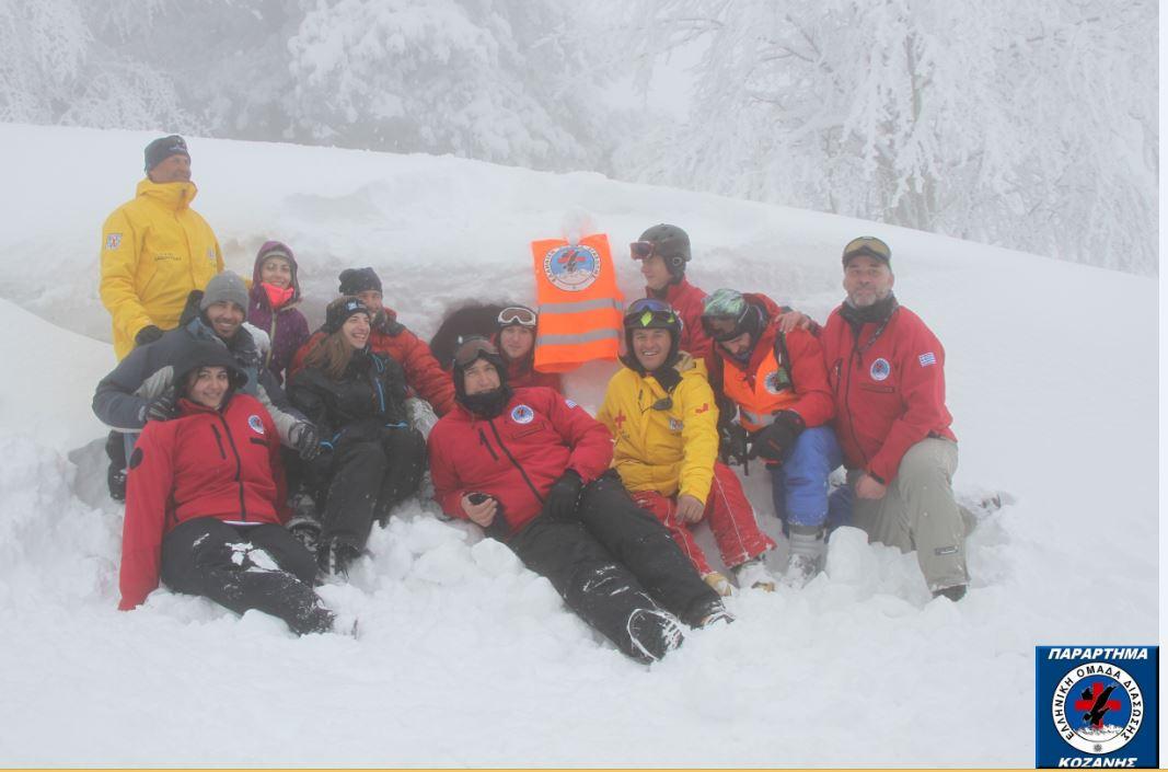 Θεωρητική και πρακτική εκπαίδευση σε τεχνικές πρόληψης Χιονοστιβάδων, από την Ομάδα Διάσωσης των PISTEURE της Βασιλίτσας, σε μέλη της Ελληνικής Ομάδας Διάσωσης των Παραρτημάτων Γρεβενών και Κοζάνης