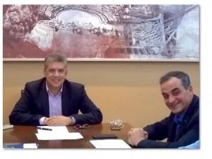 Συνάντηση του περιφερειάρχη Δυτικής Μακεδονίας Θεόδωρου Καρυπίδη με τον πρόεδρο ΕΝΠΕ και τον περιφερειάρχη Θεσσαλίας Κώστα Αγοραστό