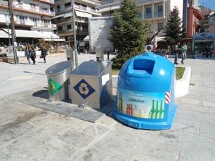 Τοποθέτηση ειδικών κάδων συλλογής γυαλιού προς ανακύκλωση από την ΔΙΑΔΥΜΑ
