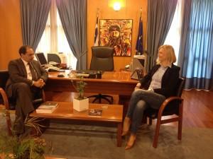 Συνάντηση της Βουλευτού Ν. Κοζάνης κας Ραχήλ Μακρή με τον Αναπληρωτή Υπουργό Υποδομών Μεταφορών και Δικτύων κ. Χρήστος Σπίρτζης