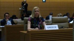 Πρόταση της βουλευτού του ΣΥΡΙΖΑ Ν Κοζάνης κας Ραχήλ Μακρή την πρώτη ημέρα του συνεδρίου της IPU στο Τόκυο