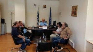 Επίσκεψη της  Βουλευτού Κοζάνης κ. Ουζουνίδου Ευγενίας στις Αστυνομικές Υπηρεσίες της Κοζάνης