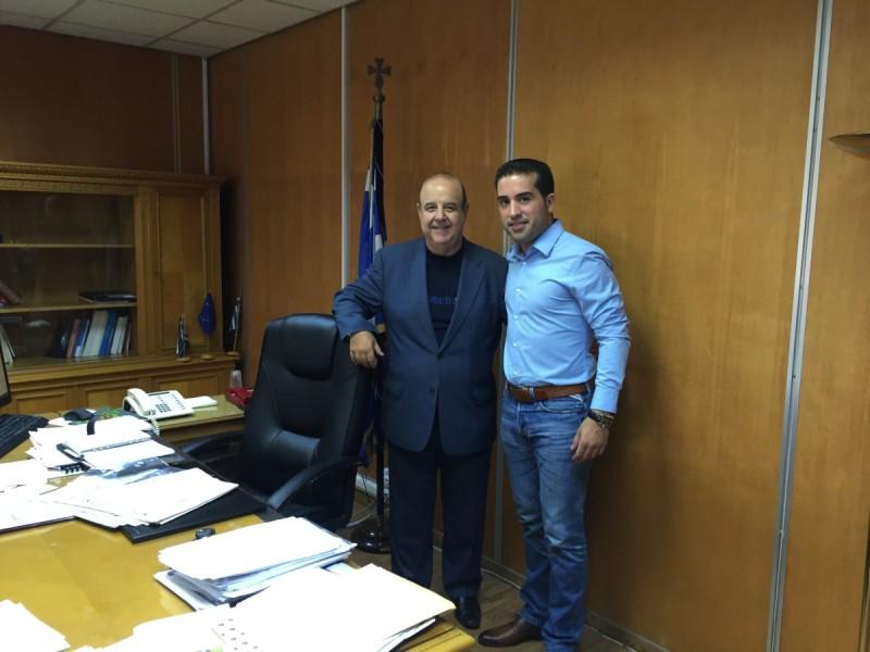 Συνάντηση Χάρη Κατάνα με τον Υφυπουργό Εργασίας Παύλο Χαϊκάλη