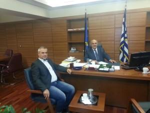 Συνάντηση του βουλευτή Γρεβενών Χρήστου Μπγιάλα  με τον αναπληρωτή υπουργό αγροτικής ανάπτυξης κύριο Μάρκο Μπόλαρη