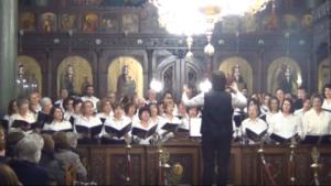 Η Βυζαντινή Χορωδία της Ιεράς Μητρόπολης Γρεβενών (video)