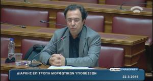Ομιλία του Θέμη Μουμουλίδη, στην συνεδρίαση της Διαρκούς επιτροπής Μορφωτικών υποθέσεων της Βουλής
