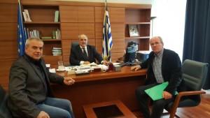 Συνάντηση του Βουλευτή Γρεβενών Χρήστου Μπγιάλα και του Προέδρου ΤΟΕΒ Καρπερού – Δήμητρας Χαράλαμπου Ορφανίδη με τον Αναπληρωτή Υπουργό  Αγροτικής Ανάπτυξης και Τροφίμων κ. Μάρκο Μπόλαρη
