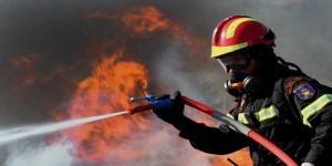 Πυρκαγιά σε αποθηκευτικό χώρο στην Τ.Κ. Μυρσίνας, του Δήμου Γρεβενών