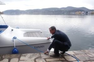 Ενημερωτική Ημερίδα του έργου «G.AL.E.T.: Greece-Albania Energy Tourism» στην ΠΕ Καστοριάς.  Τελετή αγιασμού του ηλιακού σκάφους.
