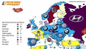 Αυτές τις μάρκες αυτοκινήτων έψαξαν οι καταναλωτές στο Google στην Ευρώπη και στον κόσμο (χάρτες)