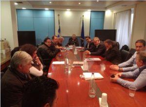 Συνάντηση της Συντονιστικής επιτροπής αγώνα και της «Κοινωνίας των Πολιτών του Βελβεντού» με τον Πάνο Σκουρλέτη για την επανασύσταση του Δήμου