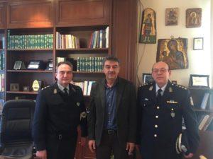 Εθιμοτυπική επίσκεψη του νέου Αστυνομικού Διευθυντή Γρεβενών κ. Κεραμά Θεόδωρου στον Δήμαρχο Γρεβενών κ. Δασταμάνη Γεώργιο