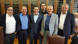 Ο Χρήστος Μπγιάλας στην συνάντηση με τον πρωθυπουργό
