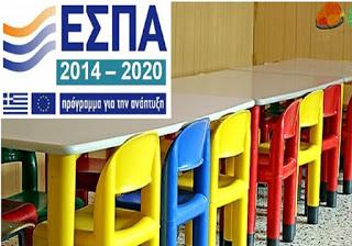 Ξεκινούν οι αιτήσεις για τους παιδικούς σταθμούς ΕΣΠΑ 2017 – 2018