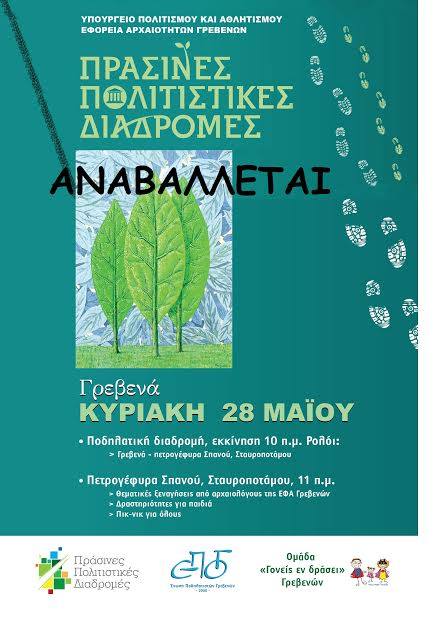 Ακύρωση εκδήλωσης της Εφορείας Αρχαιοτήτων Γρεβενών