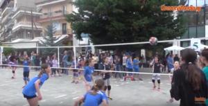 Mini volley στην κεντρική πλατεία Γρεβενών(βίντεο)