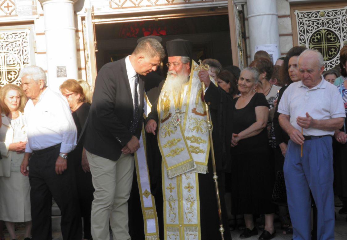 Ο Μητροπολίτης Σερβίων και Κοζάνης κ. Παύλος συνεχάρη τον Αντιπεριφερειάρχη Γρεβενών κ. Ε. Σημανδράκο για τις θέσεις του υπέρ της Ορθοδοξίας (Βίντεο)