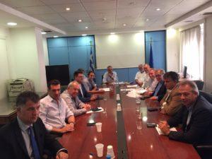 Συνάντηση Αντιπεριφερειαρχών με τον Υπουργό Εσωτερικών  Πάνο Σκουρλέτη