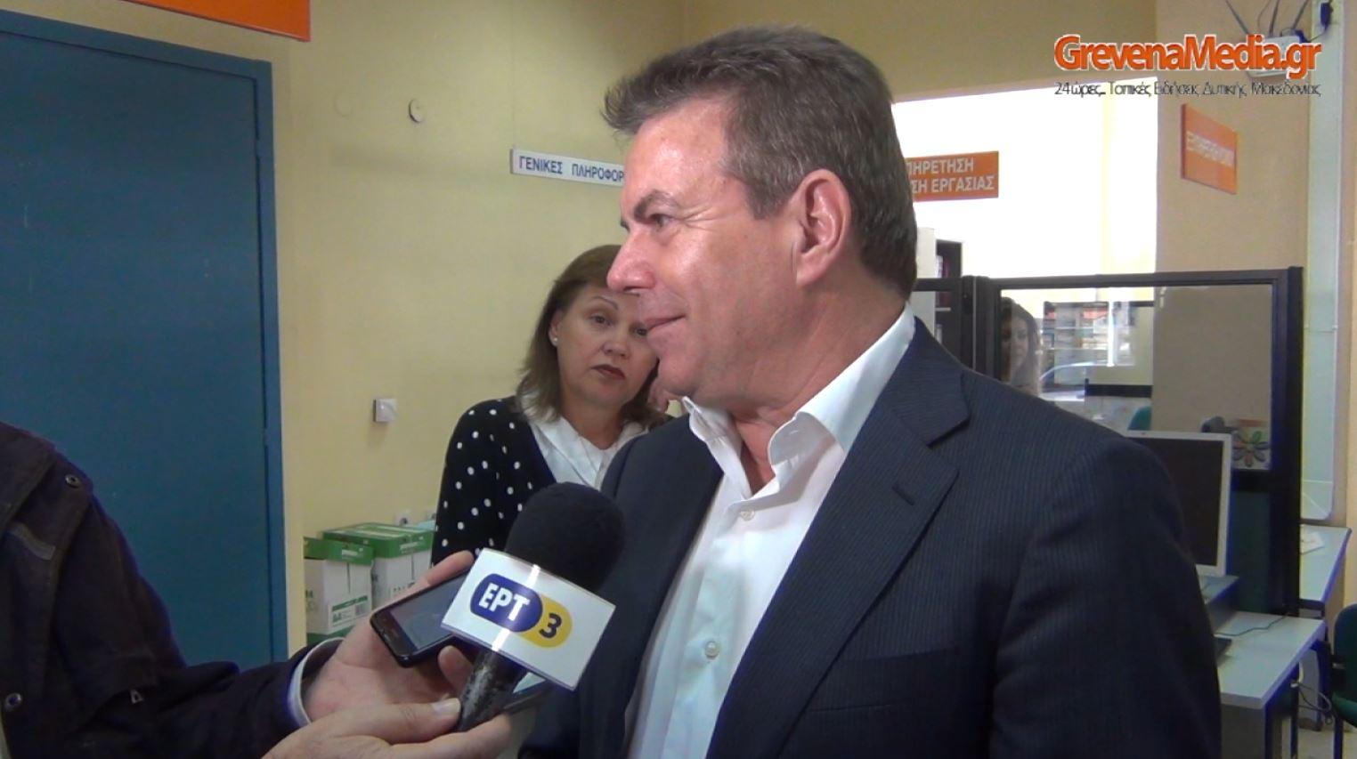 Επίσκεψη υφυπουργού εργασίας Τ.Πετρόπουλου στα Γρεβενά (Βίντεο)